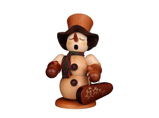 Ulbricht - Smoker Snowman With Violin Case Natural