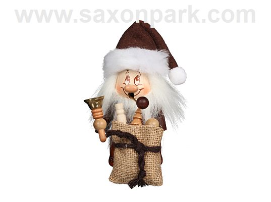 Ulbricht - Smoker Dwarf Santa Claus With Bell Small (with video)