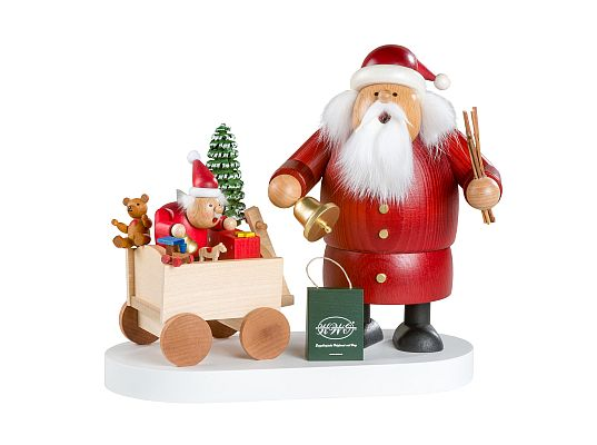 KWO - smoker Santa Claus with handcart (limited 700 pieces)