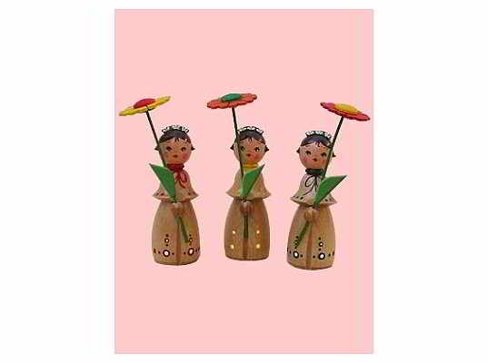 Mothes - flower child, small (3 pieces)