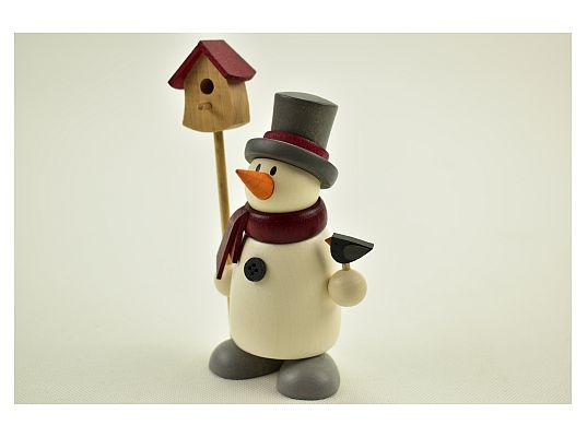 Hobler - snowman Fritz with birdhouse
