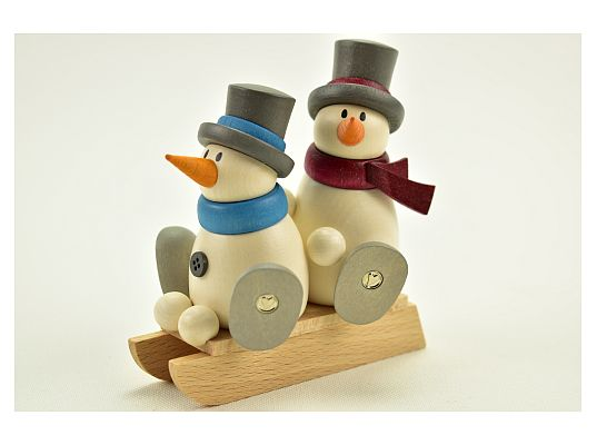 Hobler - snowman Fritz and Otto on sledges
