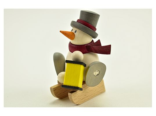 Hobler - snowman Otto with with lantern and sledges