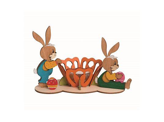 Kuhnert - craft kit  tea light candleholder pair easter bunnies
