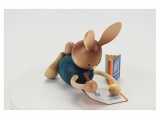 Kuhnert - Stupsi bunny homeschool lying with notebook (with video)