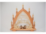 Lenk - Candle arch motive forest figures 7 candle lights