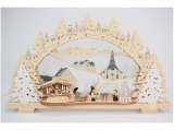 Tietze - LED candle arch BBQ hut snowy