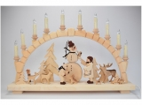 Bettina Franke - Candle arch children with animals and snowman