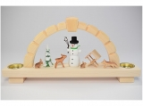 Bettina Franke - Candle arch for tea lights snowman and animals