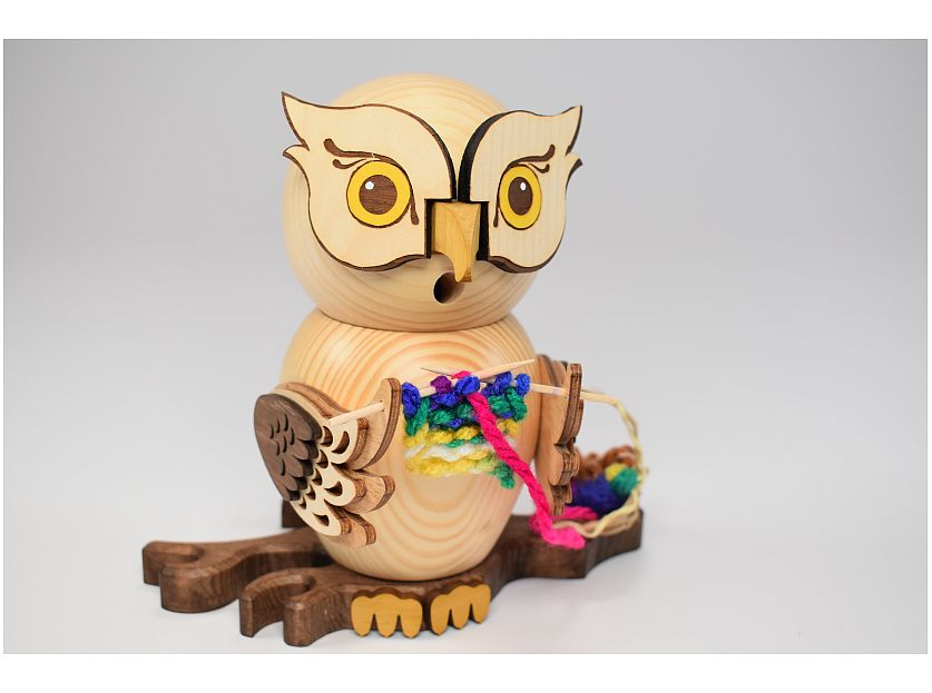 Kuhnert - Smoking figure owl with embroidery kit (with video)