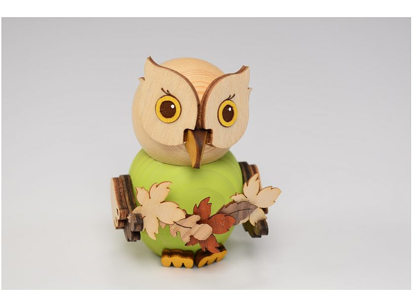 Kuhnert - mini owl with leaf garland (with video)