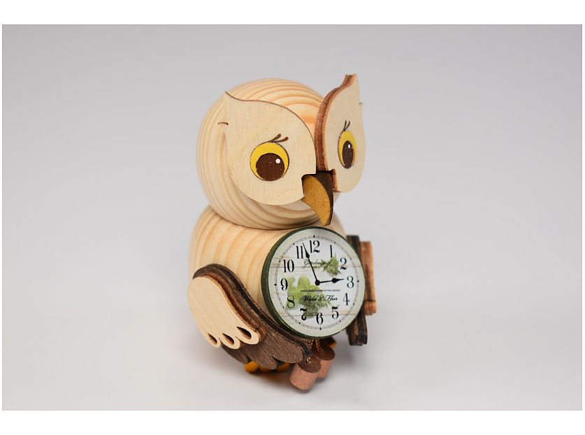 Kuhnert - Mini owl with clock (with video)