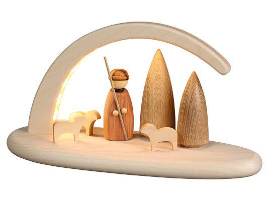 Seiffen Handcraft - Candle Arch Illuminated Light Arch Shepherd USB 5V