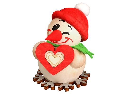 Seiffen Handcraft - Ball-shaped incense Figure Small Cool Man with Heart