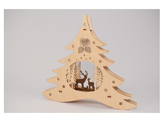 Weigla - window picture fir tree forest motif
