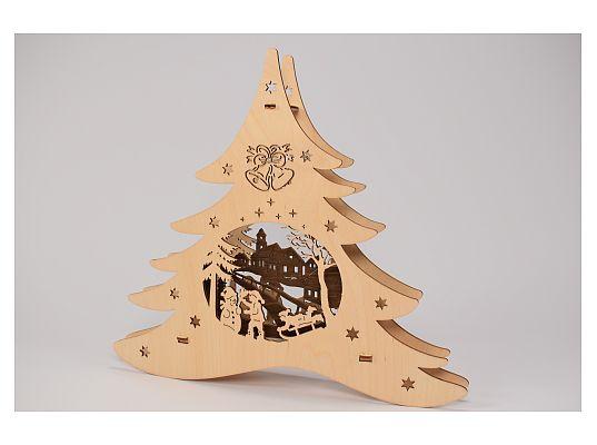 Weigla - window picture fir tree winter fun