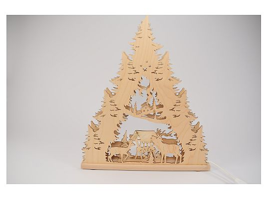 Weigla - Candle lace 7 flames deer family