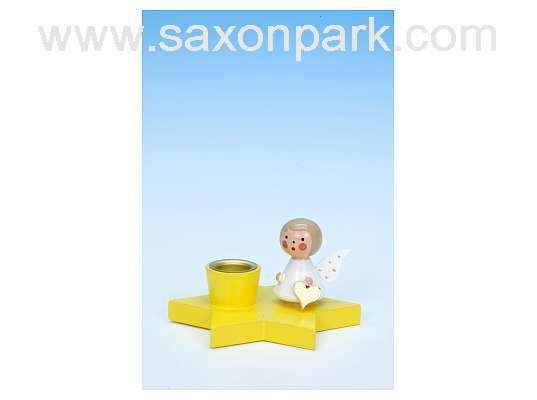 Ulbricht - Candelholder Angel On Yellow Star