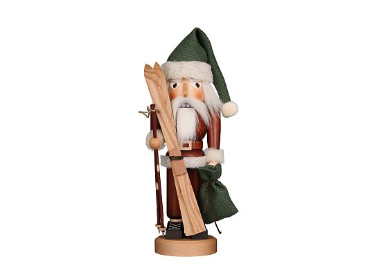 Ulbricht - Nutcracker Santa With Ski Natural