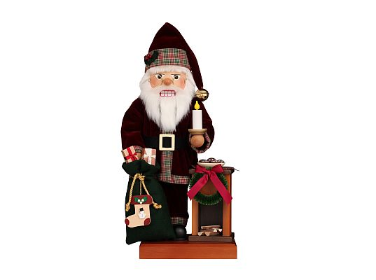 Ulbricht - Nutcracker Santa At Fireplace (with video)