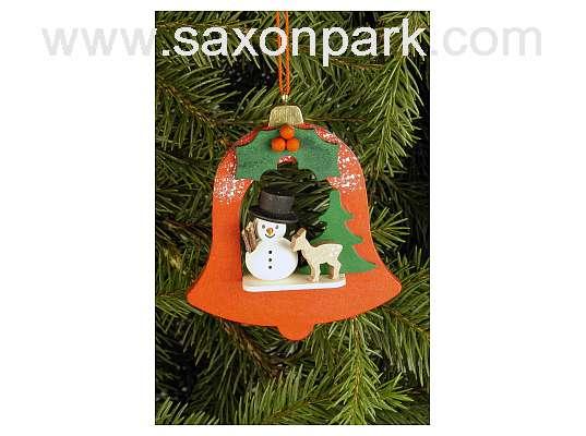 Ulbricht - Bell With Snowman Ornament