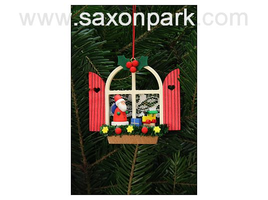Ulbricht - Advent Window Santa Ornament