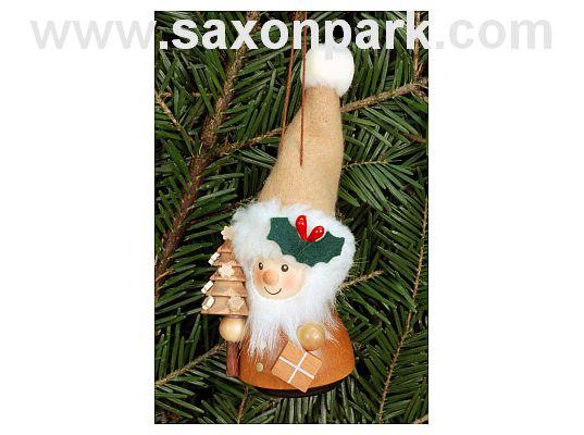 Ulbricht - Wobble Figure Santa Natural Ornament