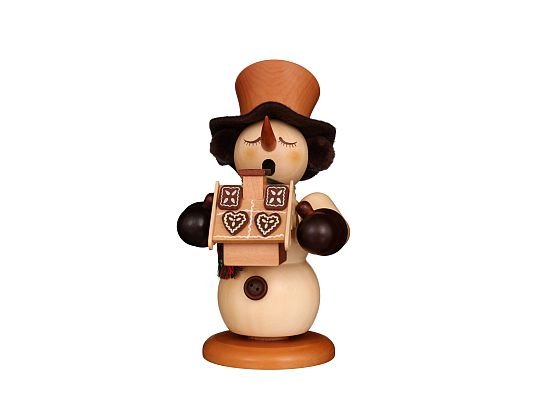 Ulbricht - Smoker Snowman With Gingerbreadhouse Natural (available from April)