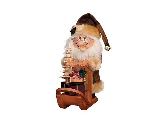 Ulbricht - Smoker Dwarf Santa With Sledge