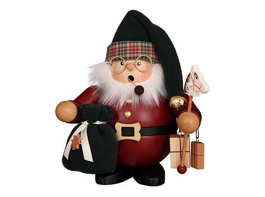 Ulbricht - Räuchermann Weihnachtsmann dunkelrot