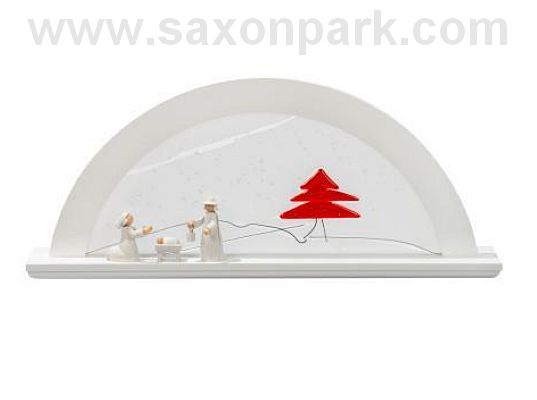 KWO - Illuminated Christmas arch Red fir tree, alder, white (without figurines)