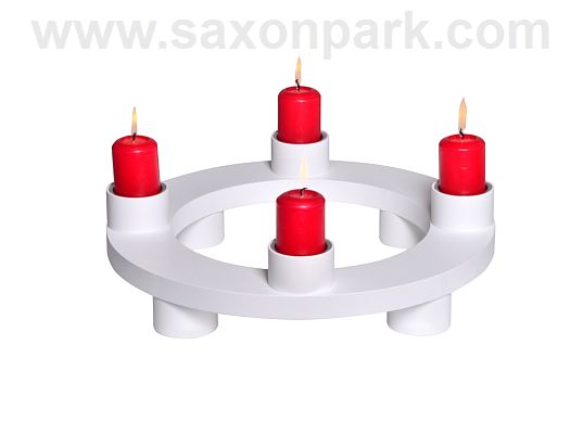 KWO - Candleholder Duo white (with video)