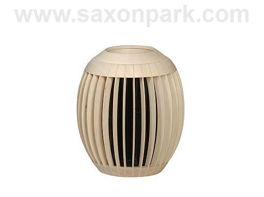 KWO - Dry vase Venezia, maple wood, natural/black
