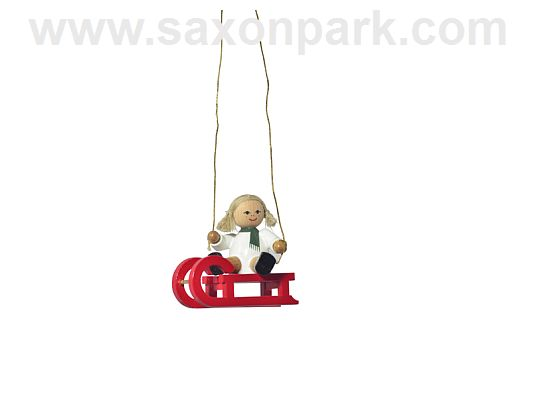 KWO - Ornament Doll on sleigh