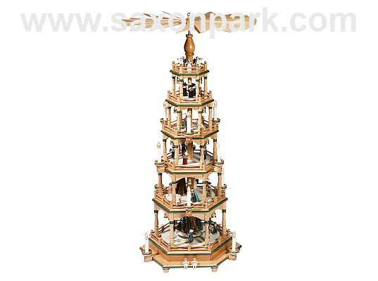 KWO - Christmas pyramid 5 tier,nat.green,elec.