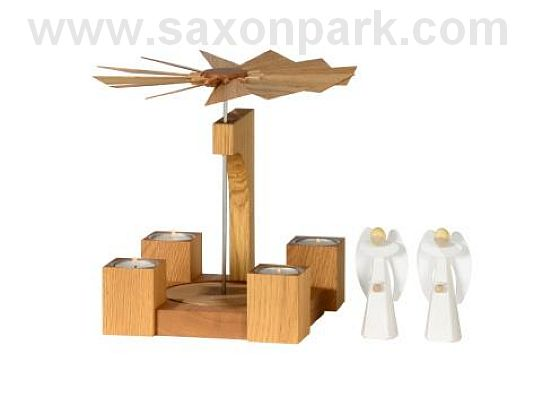KWO - Christmas pyramid - Oak wood, natural (without figurines)