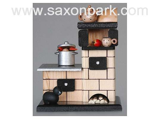 KWO - Christmas Smoker Tiled stove,nat.,smok.