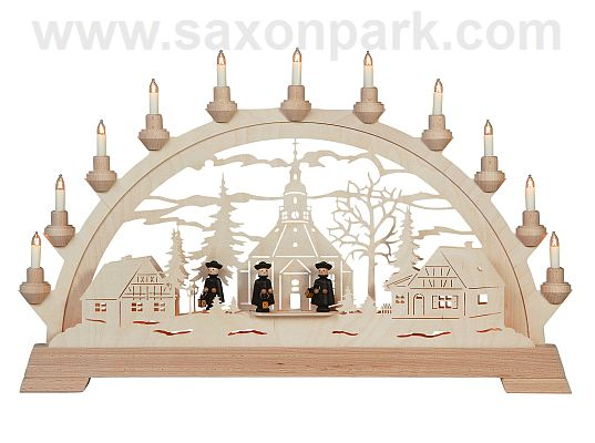KWO - Christmas Archway - Seiffner church wit