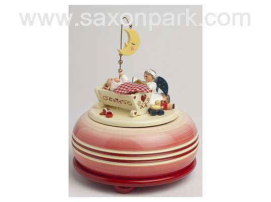 KWO - Music box, small - Goodnight, red