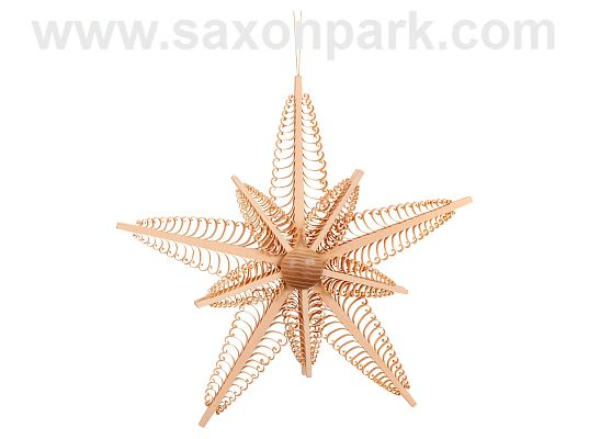 Seiffen Handcraft - Chip Tree 10-Ray Wooden Star 3 in 1