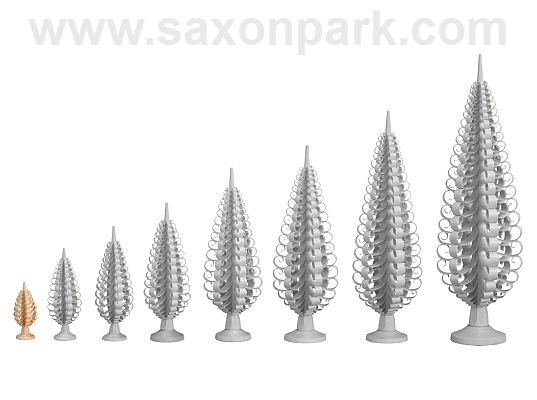 Seiffen Handcraft - Chip Tree Chip Trees, Set of Five
