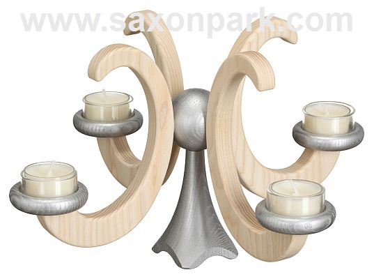 Seiffen Handcraft - Candleholder Table Candle Holder, Ash Wood natural