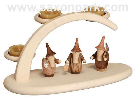 Seiffen Handcraft - Candle Arch Light Arch, Gnomes