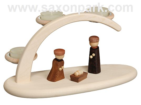 Seiffen Handcraft - Candle Arch Light Arch, Nativity Scene