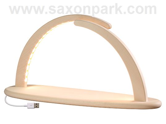 Seiffen Handcraft - Candle Arch Illuminated Light Arch, without Decoration, USB, 5V