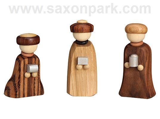 Seiffen Handcraft - Miniature Three Wise Men