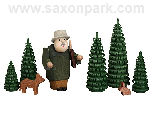 Seiffen Handcraft - Miniature Hunter in Forest