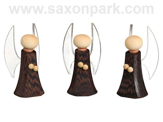 Seiffen Handcraft - Miniature Angel, Set of Three