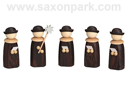 Seiffen Handcraft - Miniature Christmas Choir, Set of Five