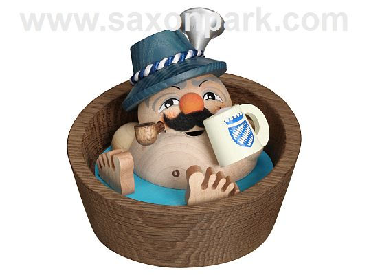 Seiffen Handcraft - Ball-shaped incense Figure Bavarian in Pool